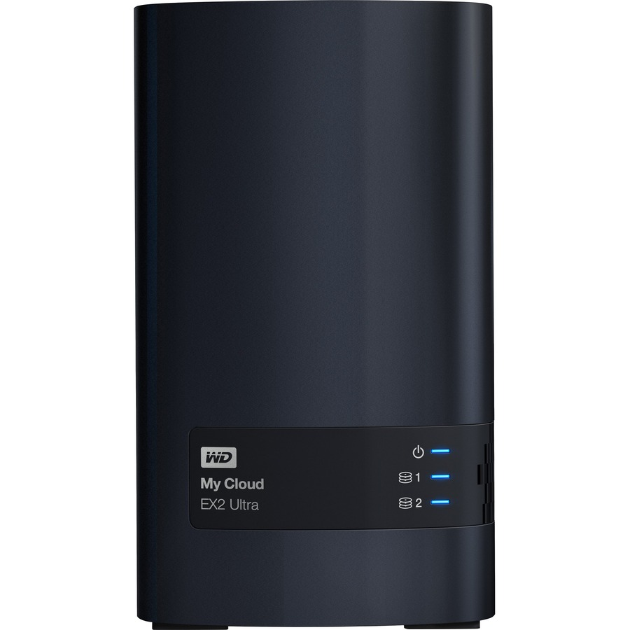 WD My Cloud EX2 Ultra WDBVBZ0160JCH 2 x Total Bays NAS Server - Desktop