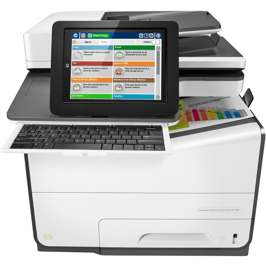 HP PageWide Enterprise 586dn Page Wide Array Multifunction Printer - Colour - Plain Paper Print