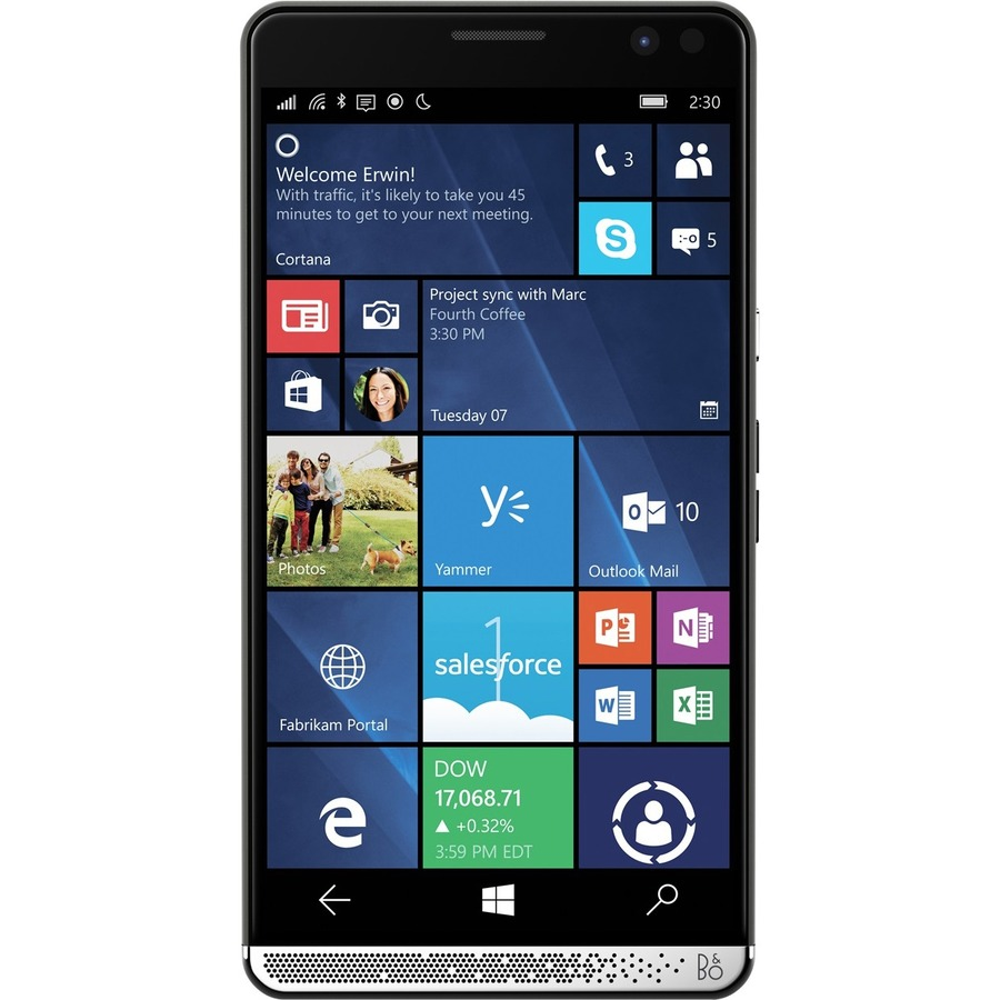 HP Elite x3 Smartphone - 64 GB Built-in Memory - Wireless LAN - 4G - Bar - Graphite, Chrome