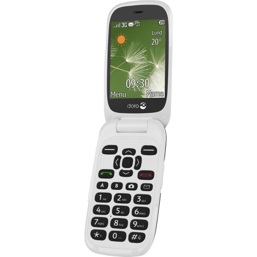 "DORO 6520 Feature Phone - 3G - 7.1 cm (2.8) LCD 320 x 240 QVGA - 2 Megapixel Rear - SIM-free"""