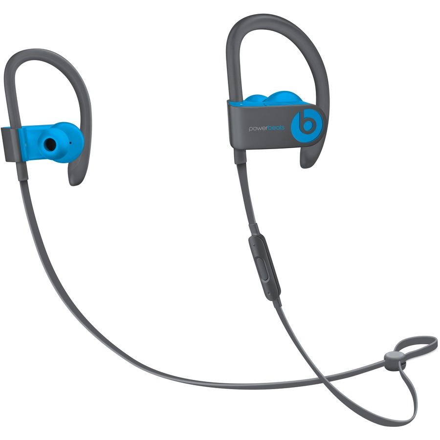 Beats by Dr. Dre Powerbeats3 Wireless Bluetooth Stereo Earset - Earbud, Over-the-ear - In-ear - Flash Blue