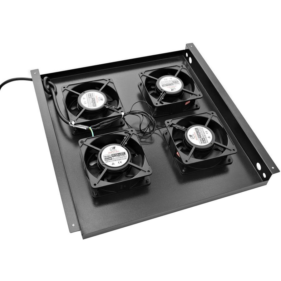 V7 RM4FANTRAY-1K Fan Tray - Black - 4 Fan