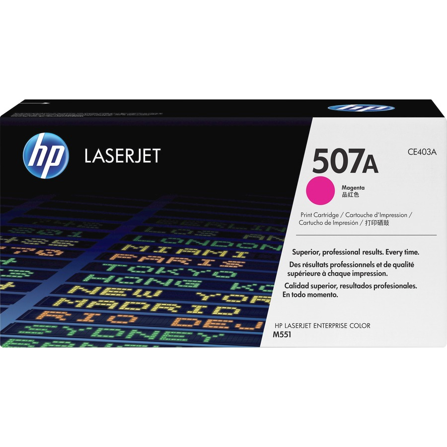 HP 507A Toner Cartridge - Magenta - Laser - 6000 Page - 1 Pack