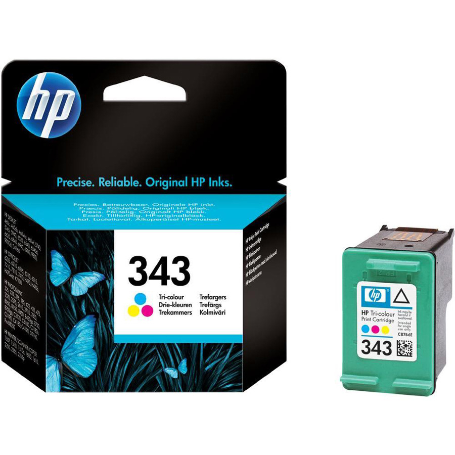HP 343 Ink Cartridge - Cyan, Magenta, Yellow