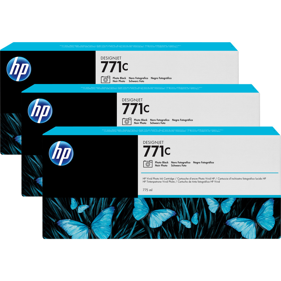 HP 771C Ink Cartridge - Light Cyan - Triple Pack