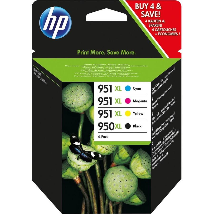 HP 950/951XL Ink Cartridge - Black, Cyan, Magenta, Yellow