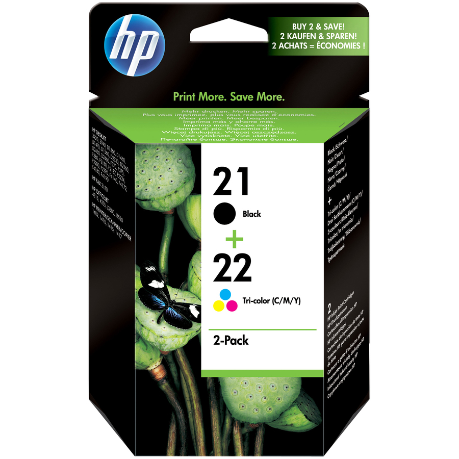 HP No. 21/22 Ink Cartridge - Black