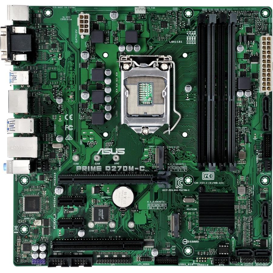 ASUS Prime Q270M-C Desktop Motherboard - Intel Chipset - Socket H4 LGA-1151 - Micro ATX