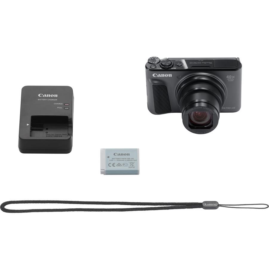 "CANON PowerShot SX730 HS 20.3 Megapixel Compact Camera - Black - 7.5 cm (3) LCD - 16:9"""