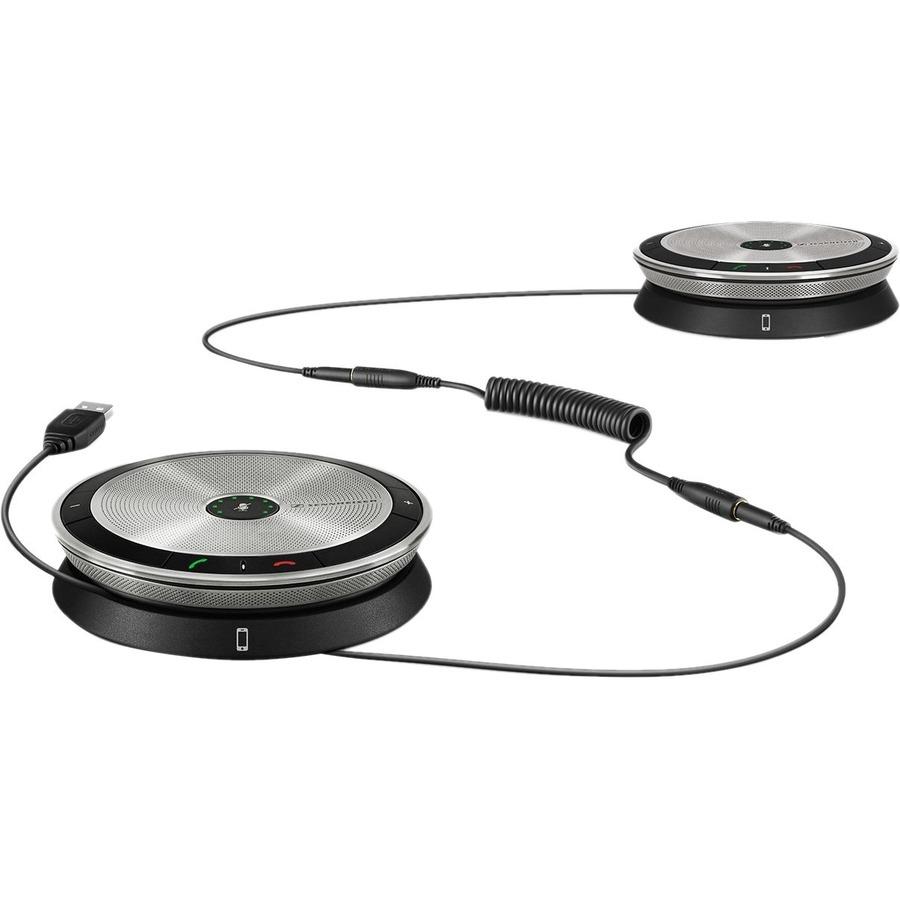 SENNHEISER SP 220 MS Speakerphone - Black, Silver - USB - Microphone - Portable