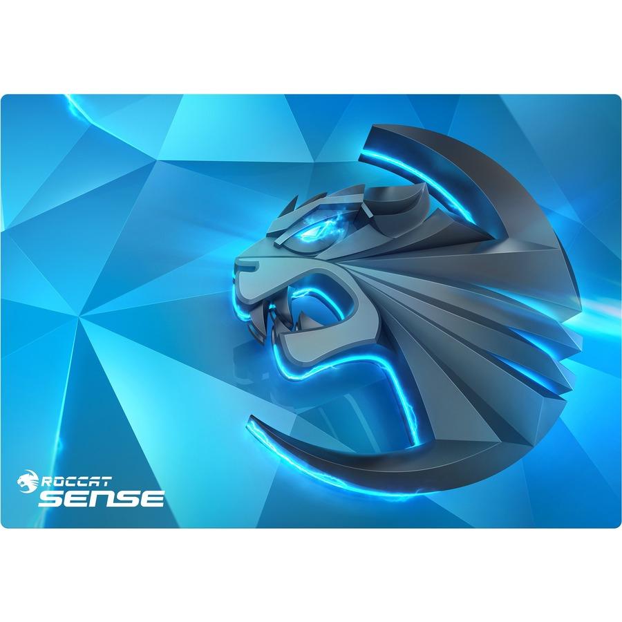 ROCCAT Sense Gaming Mouse Pad - 2 mm x 400 mm x 280 mm Dimension - Blue, Multicolor - Cloth Base