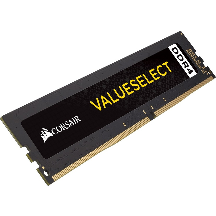 Corsair ValueSelect RAM Module - 4 GB 1 x 4 GB - DDR4 SDRAM - 2400 MHz DDR4-2400/PC4-19200 - 1.20 V - Unbuffered - CL16 - 288-pin - DIMM