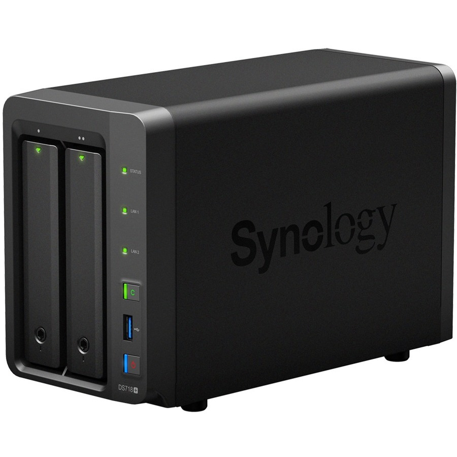 Synology DiskStation DS718+ 2 x Total Bays SAN/NAS Storage System - Desktop  - Intel Celeron J3455 Quad-core (4 Core) 1 50 GHz - 2 x HDD Supported - 2