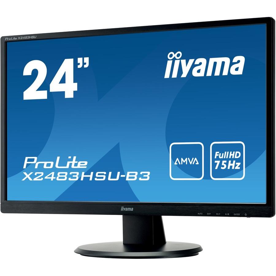 iiyama ProLite X2483HSU-B3  23.8inch WLED Monitor - 16:9 - 4 ms