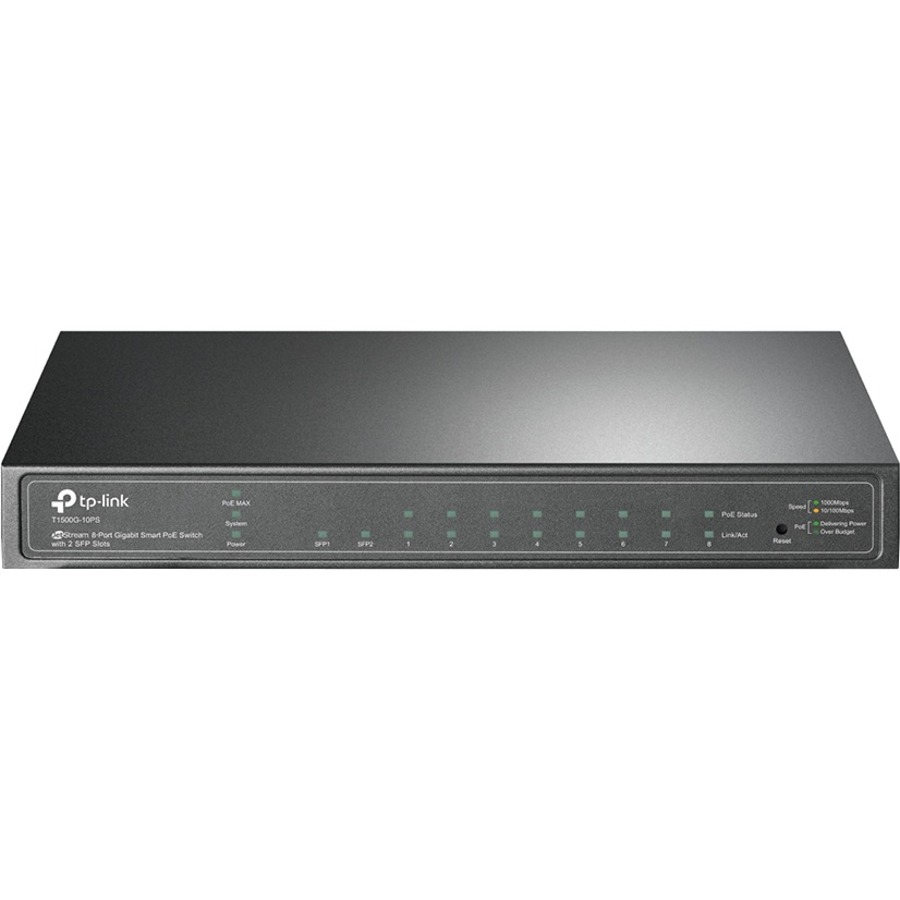 TP-LINK JetStream T1500G-10PS 8 Ports Manageable Ethernet Switch