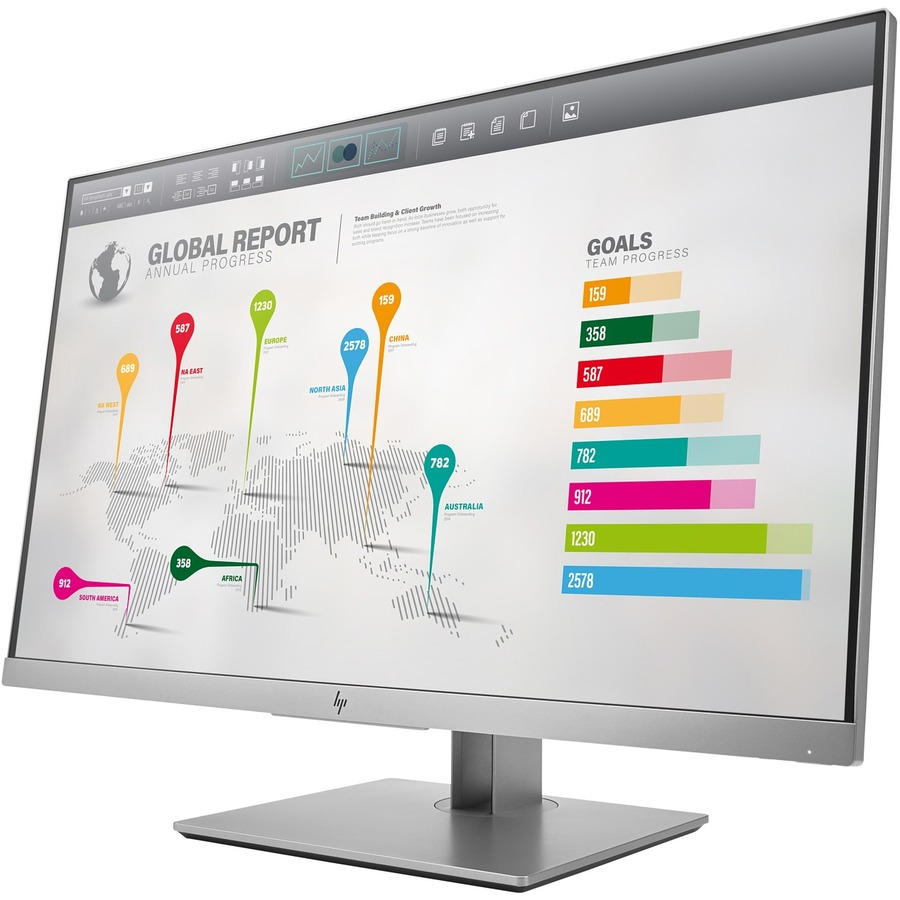 HP Business E273q  27inch WLED LCD Monitor - 16:9 - 5 ms