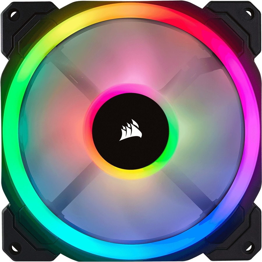 CORSAIR LL140 Cooling Fan - Motherboard - 1 x 140 mm - 1 - 1300 rpm - 4-pin PWM - RGB LED