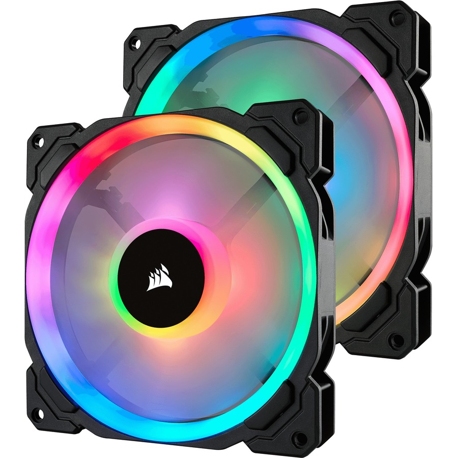 CORSAIR LL140 Cooling Fan - Case - 140 mm - 1300 rpm51.5 CFM - 25 dB(A) Noise - Hydraulic Bearing