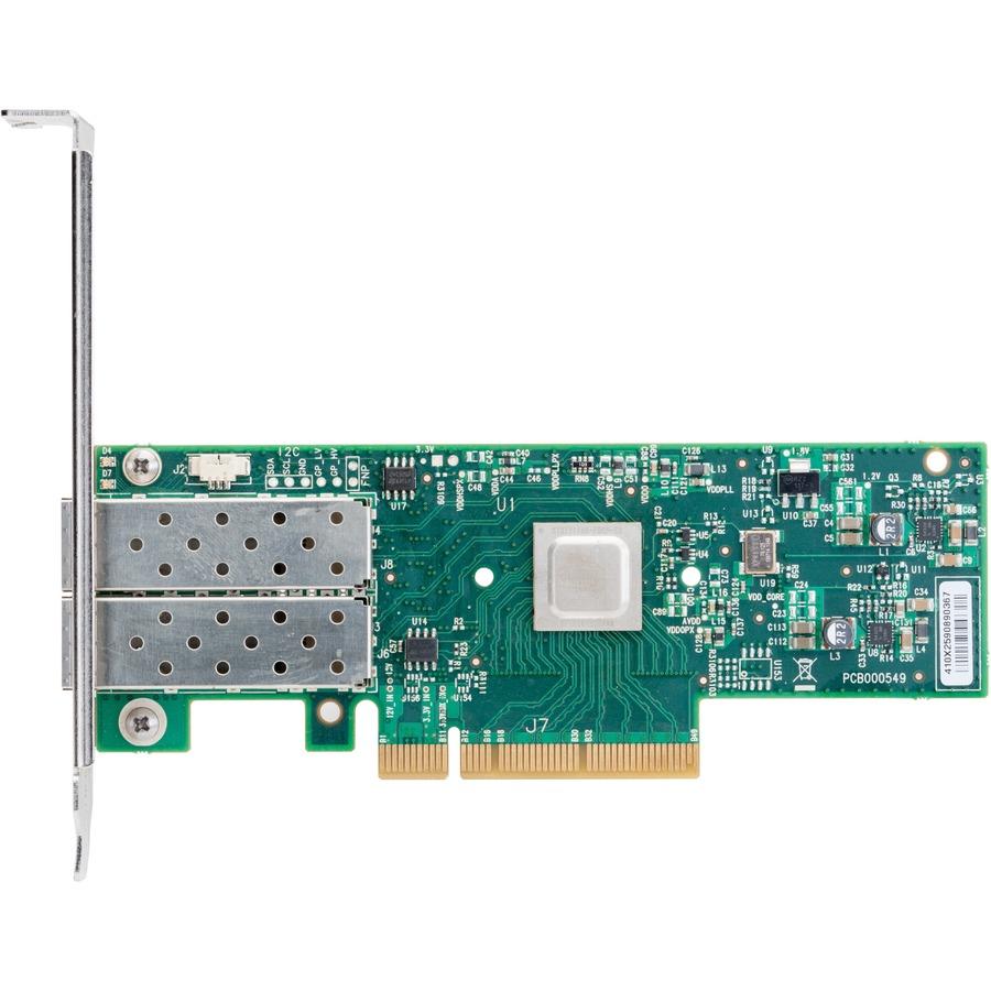 Mellanox ConnectX-4 MCX4121A-ACAT 25Gigabit Ethernet Card - PCI Express 3.0 x8 - 2 Ports - Optical Fiber
