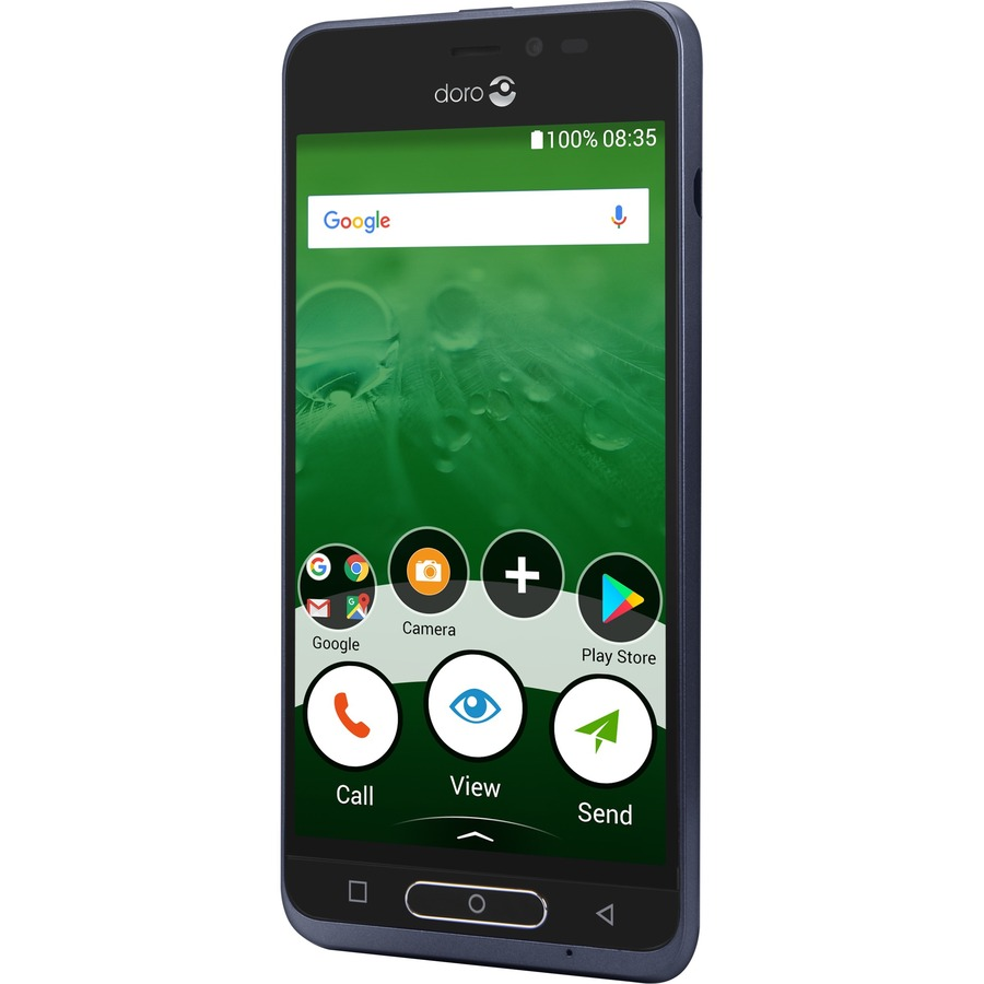 "DORO 8035 16 GB Smartphone - Blue, Black - 12.7 cm (5) HD Touchscreen - 2 GB RAM - 4G"""