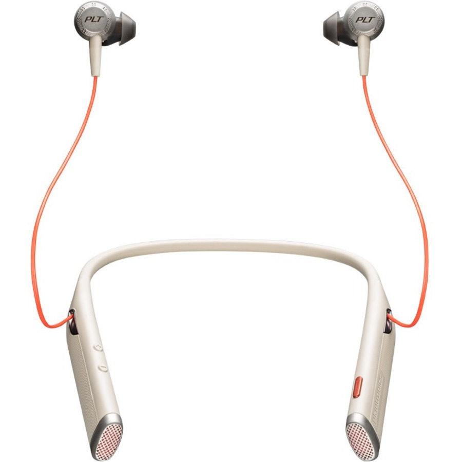 PLANTRONICS Voyager Wireless Bluetooth Stereo Earset - Earbud, Behind-the-neck - In-ear - Sand
