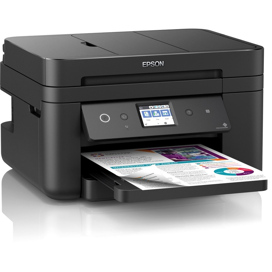 Epson WorkForce WF-2860DWF Inkjet Multifunction Printer - Colour - Copier/Fax/Printer/Scanner - 33 ppm Mono/20 ppm Color Print - 4800 x 1200 dpi Print - Automatic Du