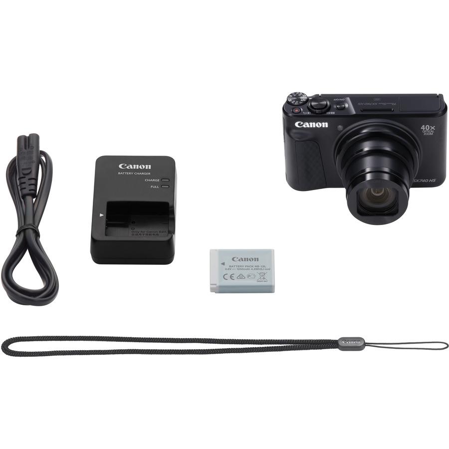 "CANON PowerShot SX740 HS 20.3 Megapixel Compact Camera - Black - 7.5 cm (3) LCD - 16:9"""