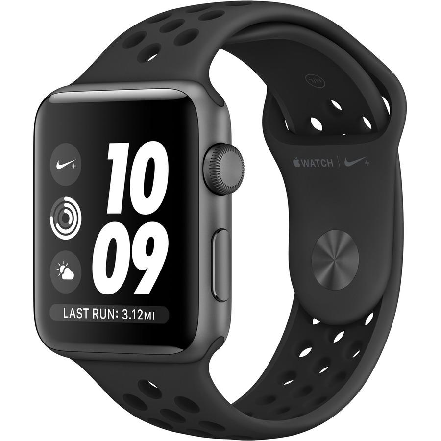APPLE Watch Series 3 Nike+ Smart Watch - Wrist Wearable - Space Gray Aluminum Case