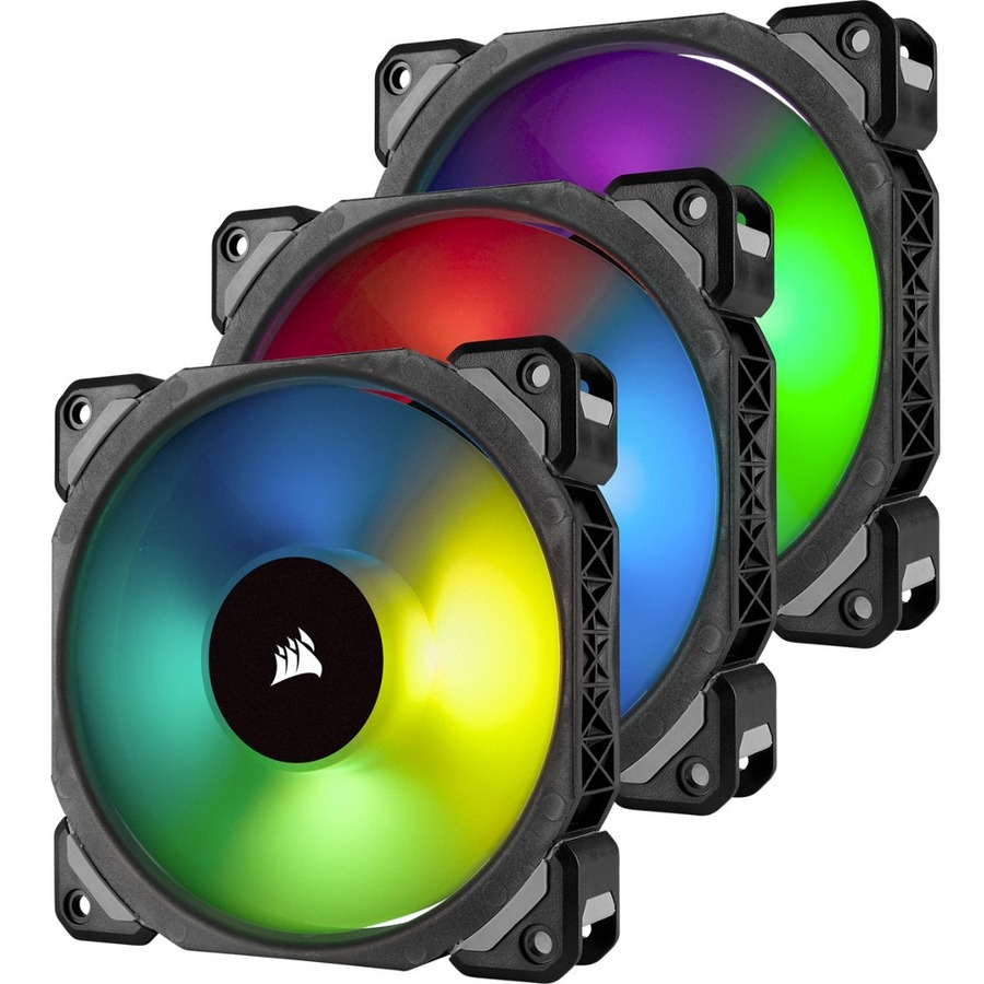 CORSAIR ML120 PRO RGB Cooling Fan - Case - 1 x 120 mm - 3 - 1600 rpm - 3 x 47.3 CFM