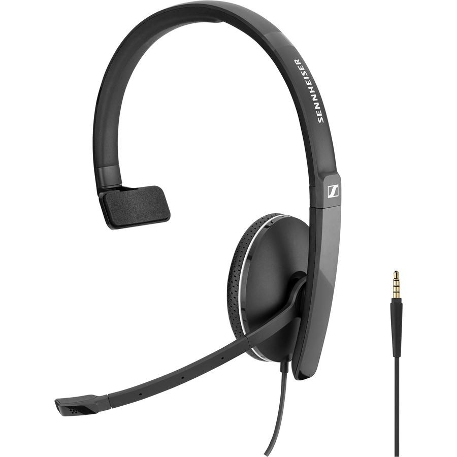 SENNHEISER SC 135 Wired Over-the-head Mono Headset - Black, White - Supra-aural - 20 Hz to 20 kHz