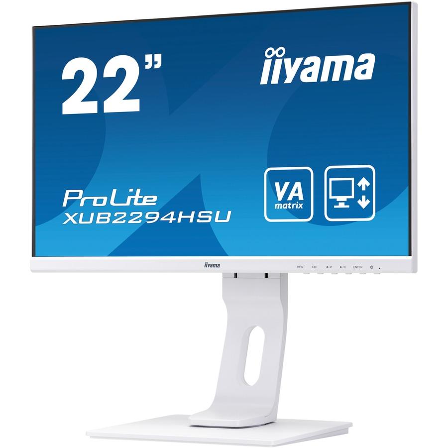 iiyama ProLite XUB2294HSU-W1 21.5And#34; Full HD LED LCD Monitor - 16:9 - Matt White
