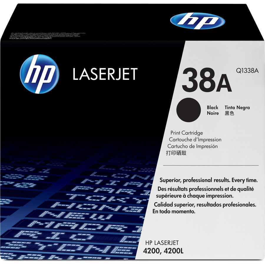 HP 38A Toner Cartridge - Black - Laser - 12000 Page - 1 Each