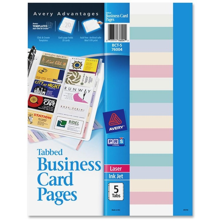AVE76004 Avery Business Card Pages | Office Advantage
