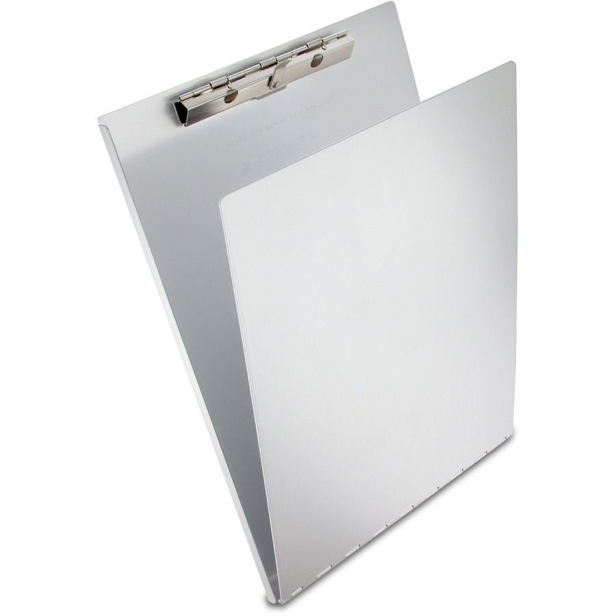 Saunders Aluminum Clipboard With Writing Plate 0 50 Clip Capacity 8 1 2 X 12 Spring Each