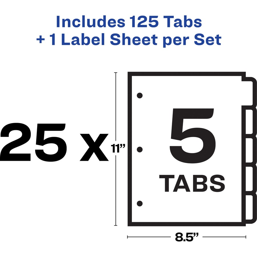 avery index maker label dividers w  regular tabs