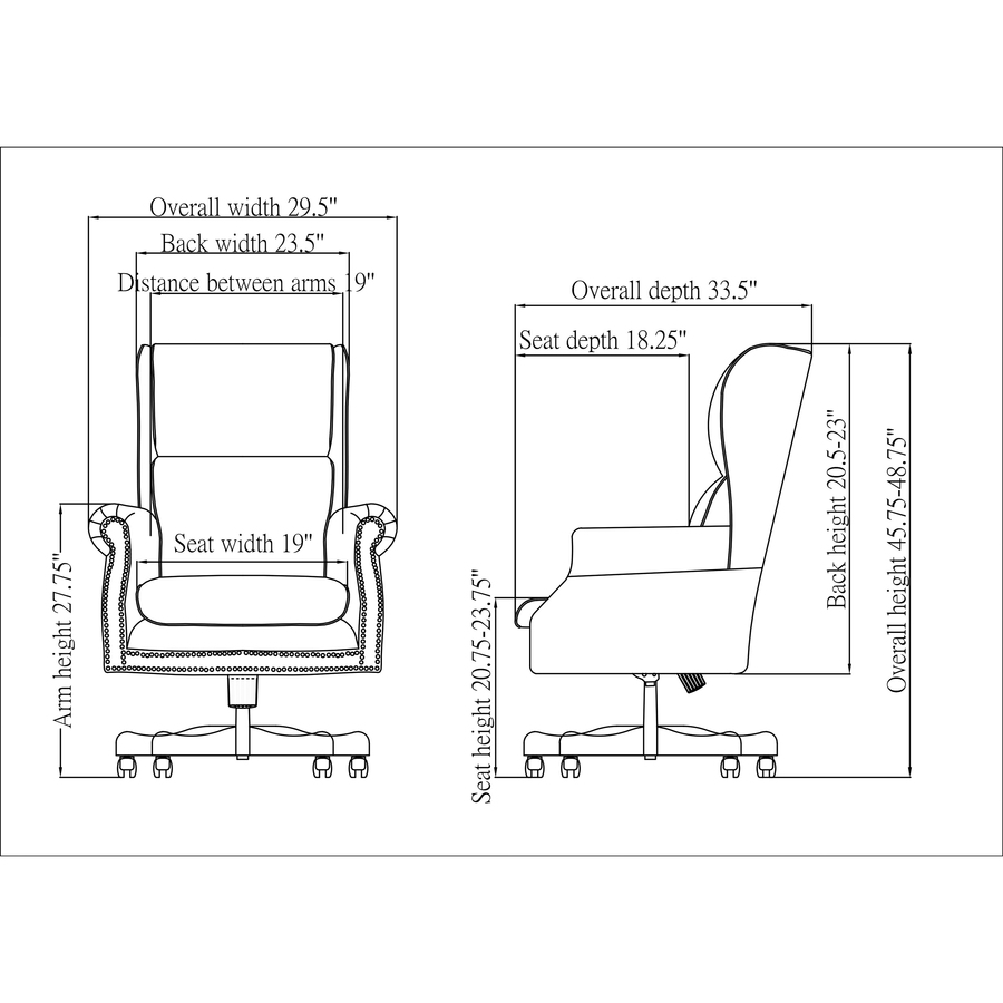 Awe Inspiring Lorell Traditional Executive Swivel Tilt Chair Vinyl Oxblood Seat Hardwood Mahogany Frame 5 Star Base Wood 29 Width X 32 Depth X 47 Evergreenethics Interior Chair Design Evergreenethicsorg