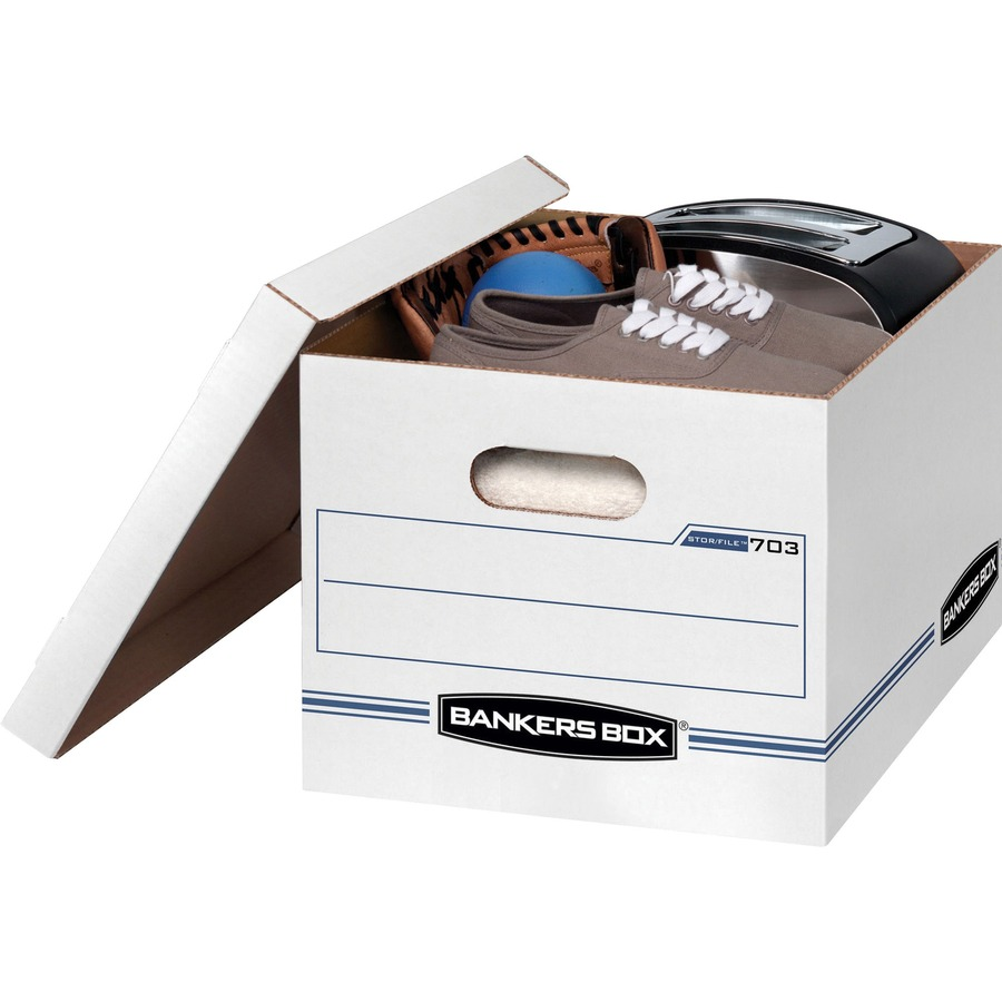 Bankers Box Stor//File Medium-Duty Storage Boxes with Lift-Off Lid 12 Pac Legal