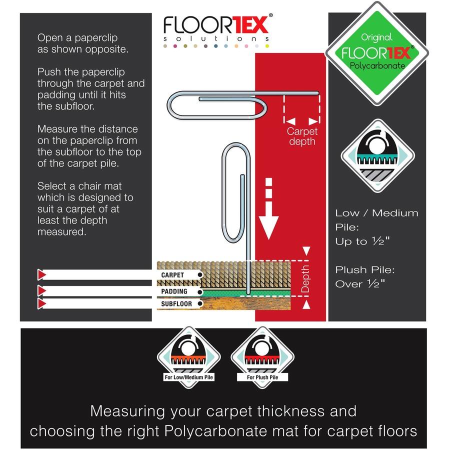 floortex 119923sr floortex contoured chair mat flr119923sr flr
