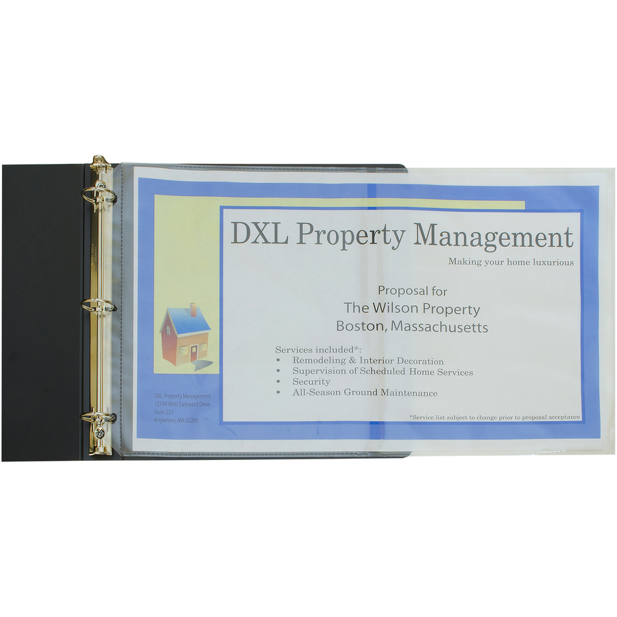 """C-line Panoramic Fold-out Sheet Protector 11/"""" X 17/"""" Letter 8.50/"""" X 11/"""""""