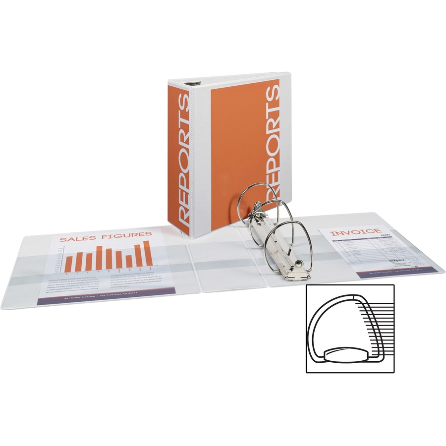 avery 4 durable view binder with ezd rings white formydesk com