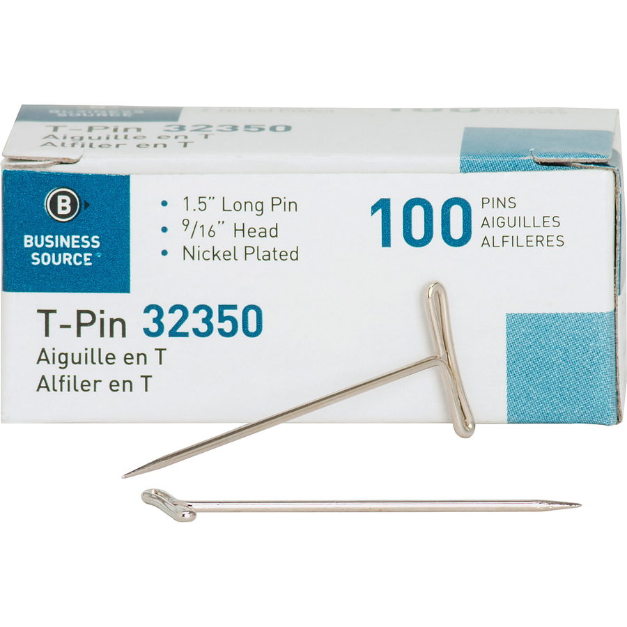 5-Pack Business Source 32351 T-Pins
