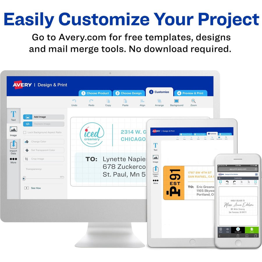 avery easy peel return address label urban office products
