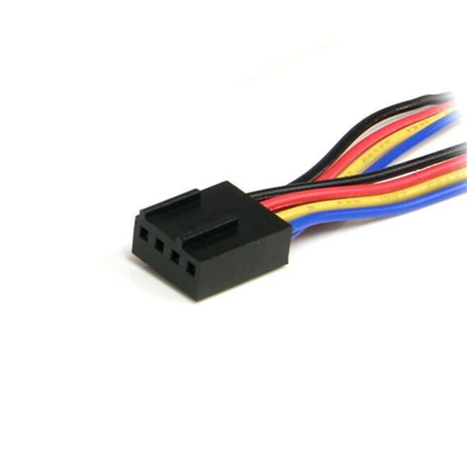 StarTech.com 12in 4 Pin Fan Power Splitter Cable - F/M - 0.31m - Molex - Molex