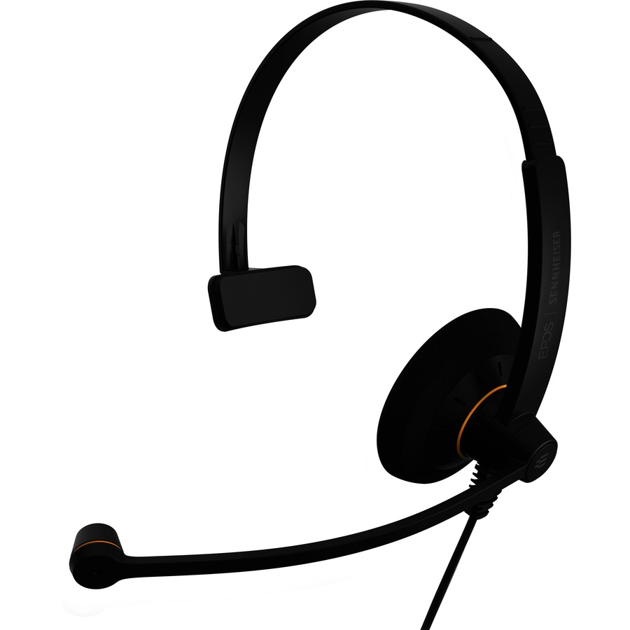 Sennheiser SC 30 USB ML Wired Mono Headset - Over-the-head - Supra-aural - Black, Orange