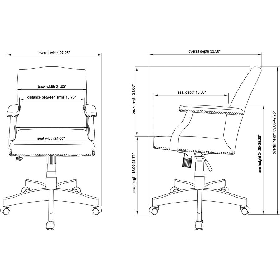 Astounding Llr 68250 Lorell Traditional Executive Bonded Leather Evergreenethics Interior Chair Design Evergreenethicsorg
