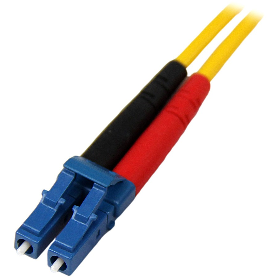 StarTech.com 10m Single Mode Duplex Fiber Patch Cable LC-LC - 2 x LC Male Network - 2 x LC Male Network - Patch Cable - Yellow