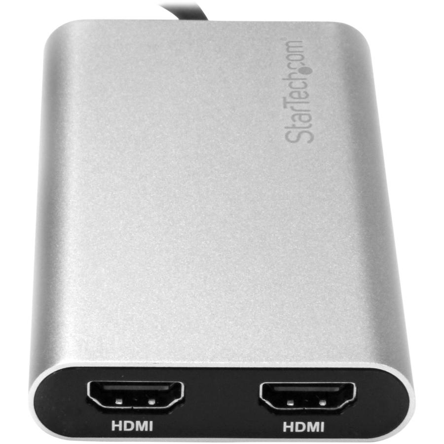 StarTech.com Thunderbolt 3 to Dual HDMI Adapter - Thunderbolt to 2x HDMI Converter - 4K 30Hz