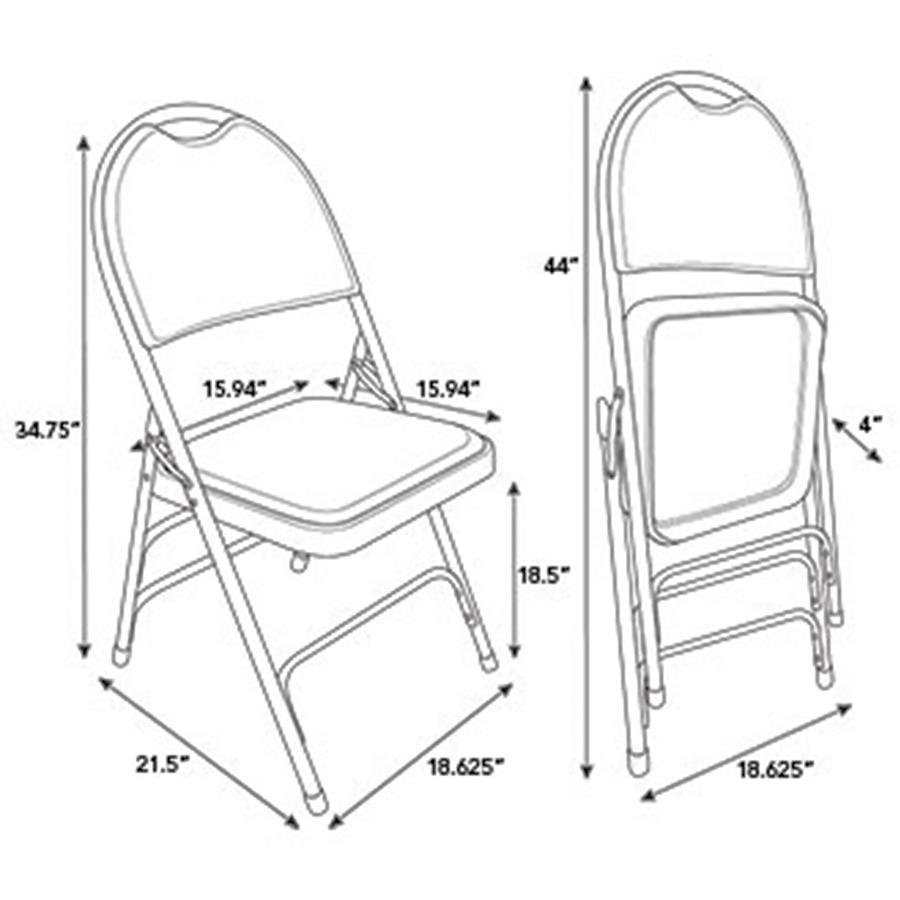 Pleasing Samsonite Comfort Series Steel Vinyl Folding Chair Vinyl Theyellowbook Wood Chair Design Ideas Theyellowbookinfo