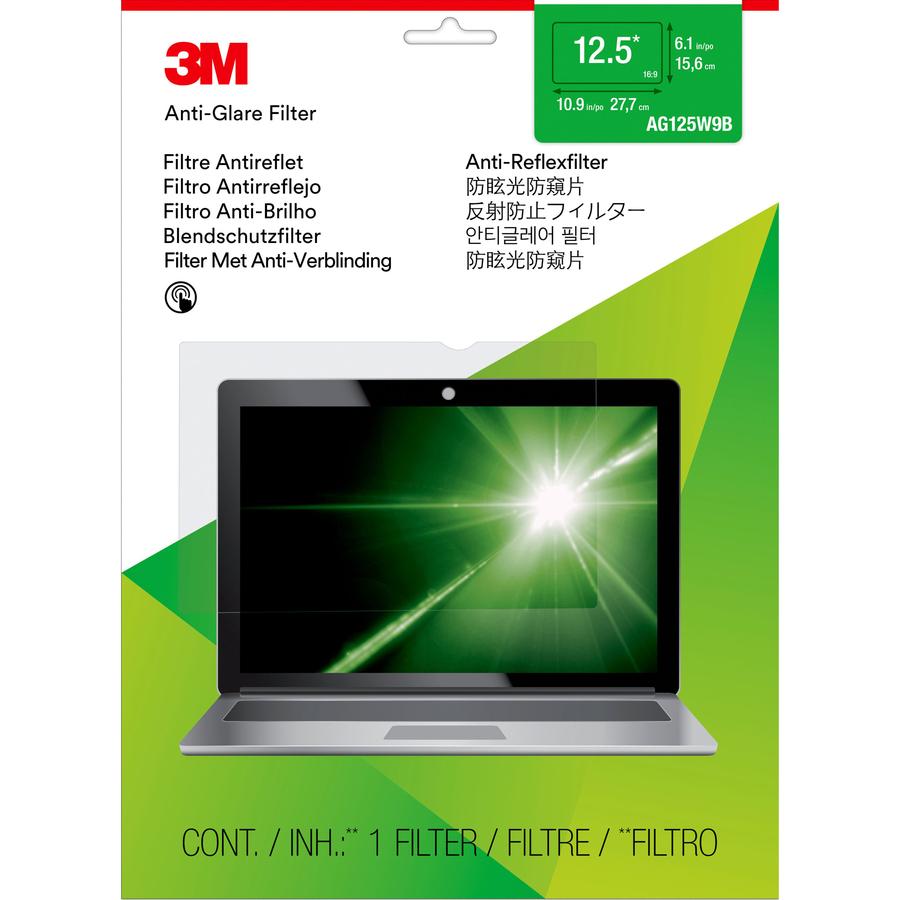 3M Standard Screen Filter - Clear, Matte - For 31.8 cm 12.5inch Widescreen Notebook - 16:9