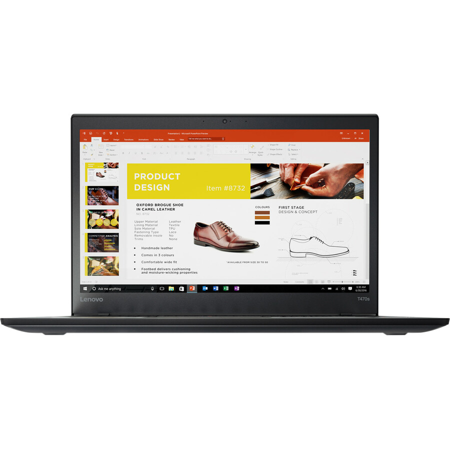 Lenovo ThinkPad T470s 20HF0000UK 35.6 cm 14inch LCD Notebook - Intel Core i5 7th Gen i5-7200U Dual-core 2 Core 2.50 GHz - 8 GB DDR4 SDRAM - 256 GB SSD - Windows 1